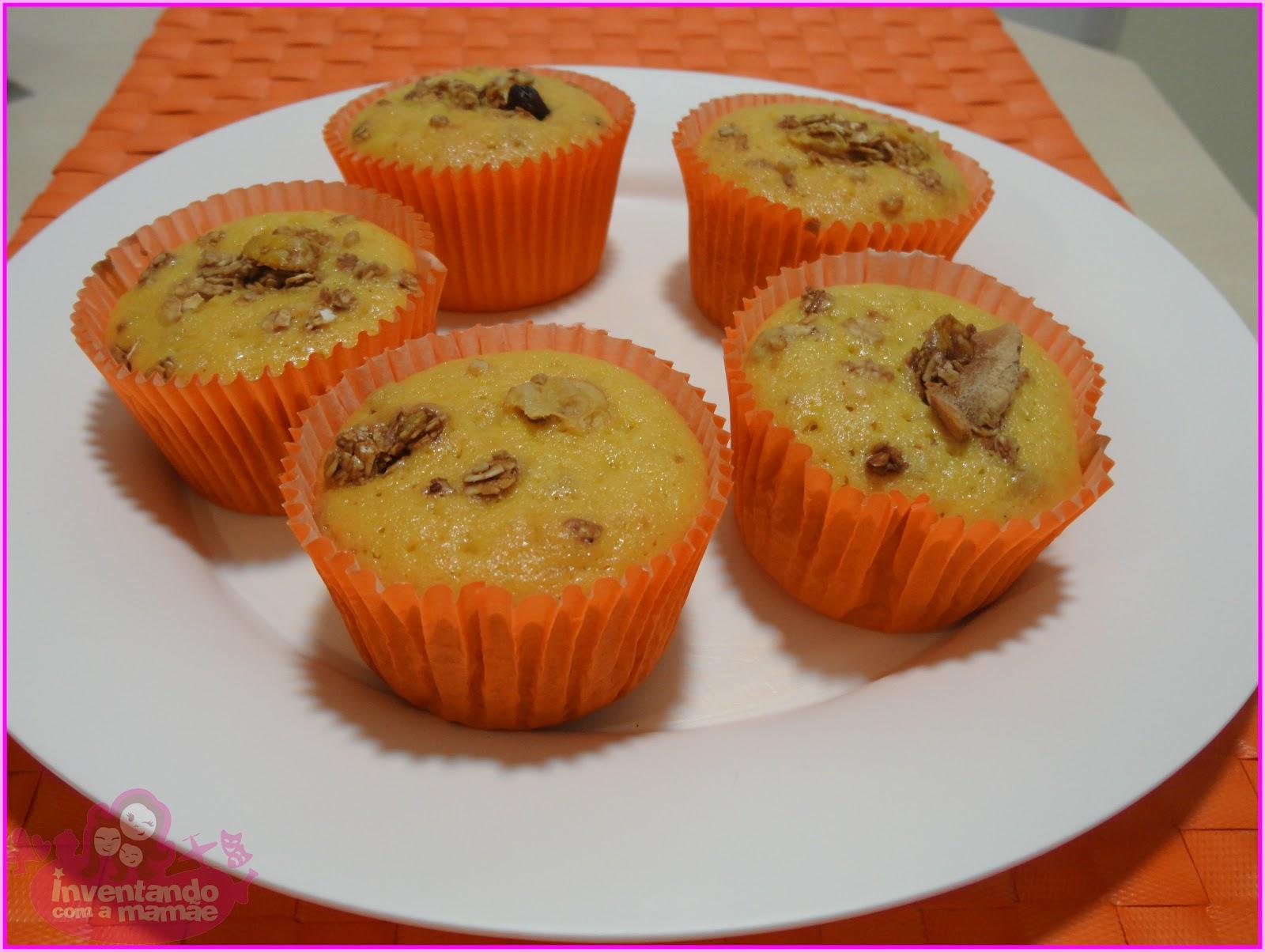 Cupcake de casca de mamão