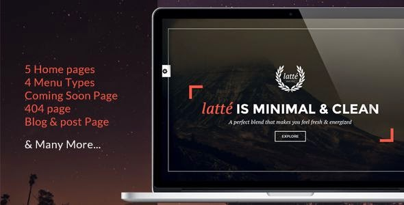 latte - One Page Creative Template