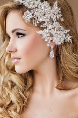 Gretel Lace bridal headpiece - www.perlejewellerymakeup.com.au