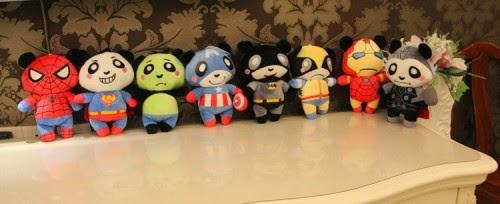 Jual boneka panda superhero