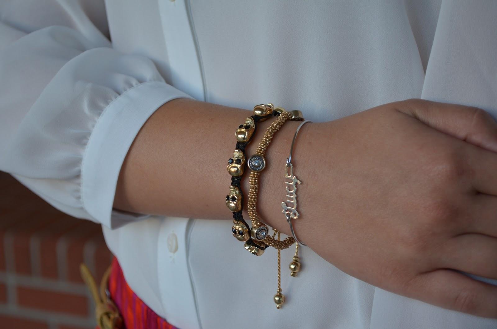 diamentdesigns, diament designs, etsy, lucy, lucy bracelet, skull, skull bracelet, gold, gold jewelry, gold bracelet