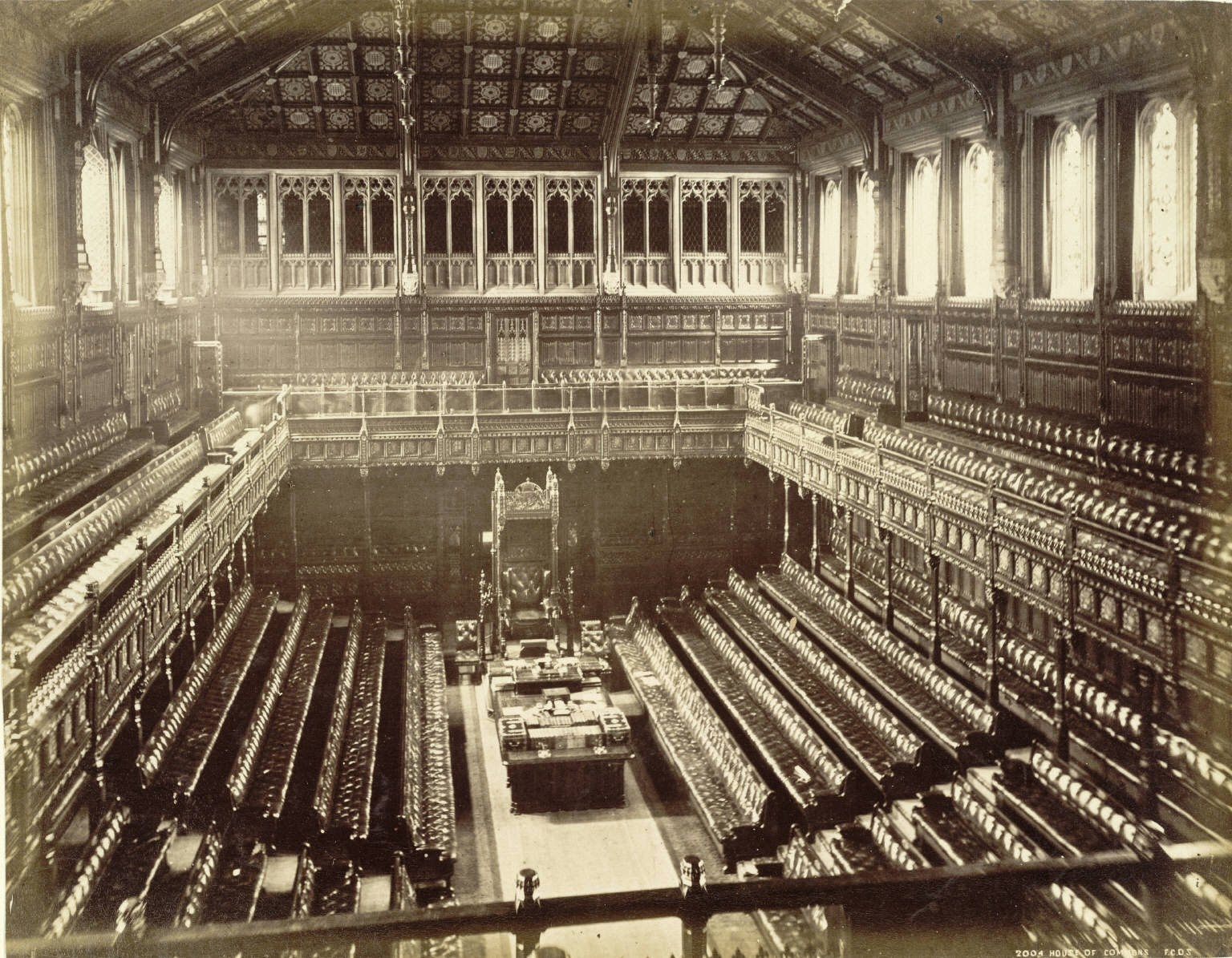 Old House of Commons - was destroyed by German bombs in 1941 (from Wikipedia)