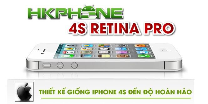 hkphone 4s retina pro thiết kế giống với iphone 4s đến độ hoàn hảo