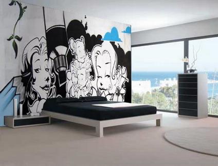 Ideas creativas para decorar la pared quiero m s dise o for Graffiti jugendzimmer