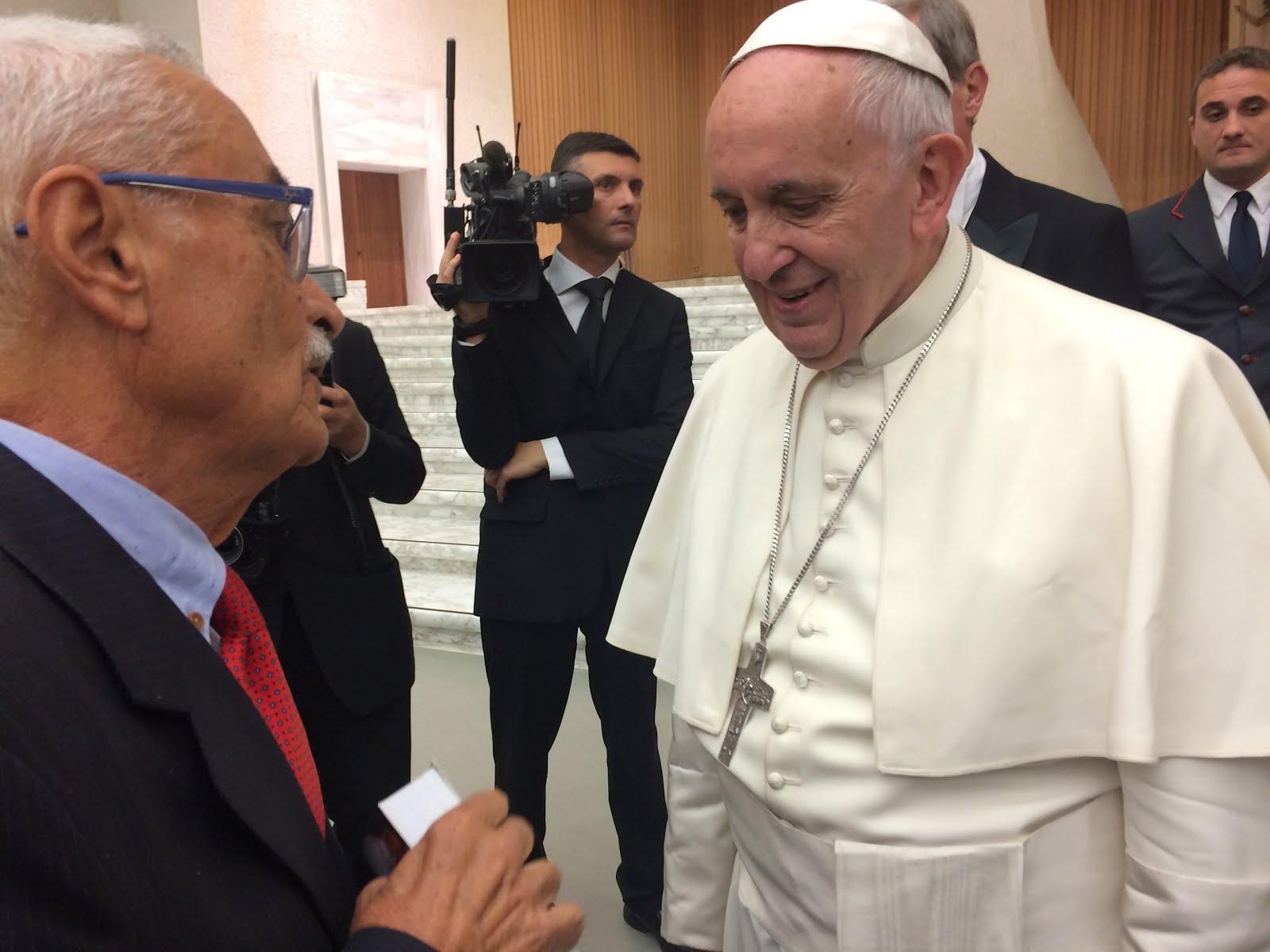 Clóvis Cavalcanti em Audiência com o Papa Francisco