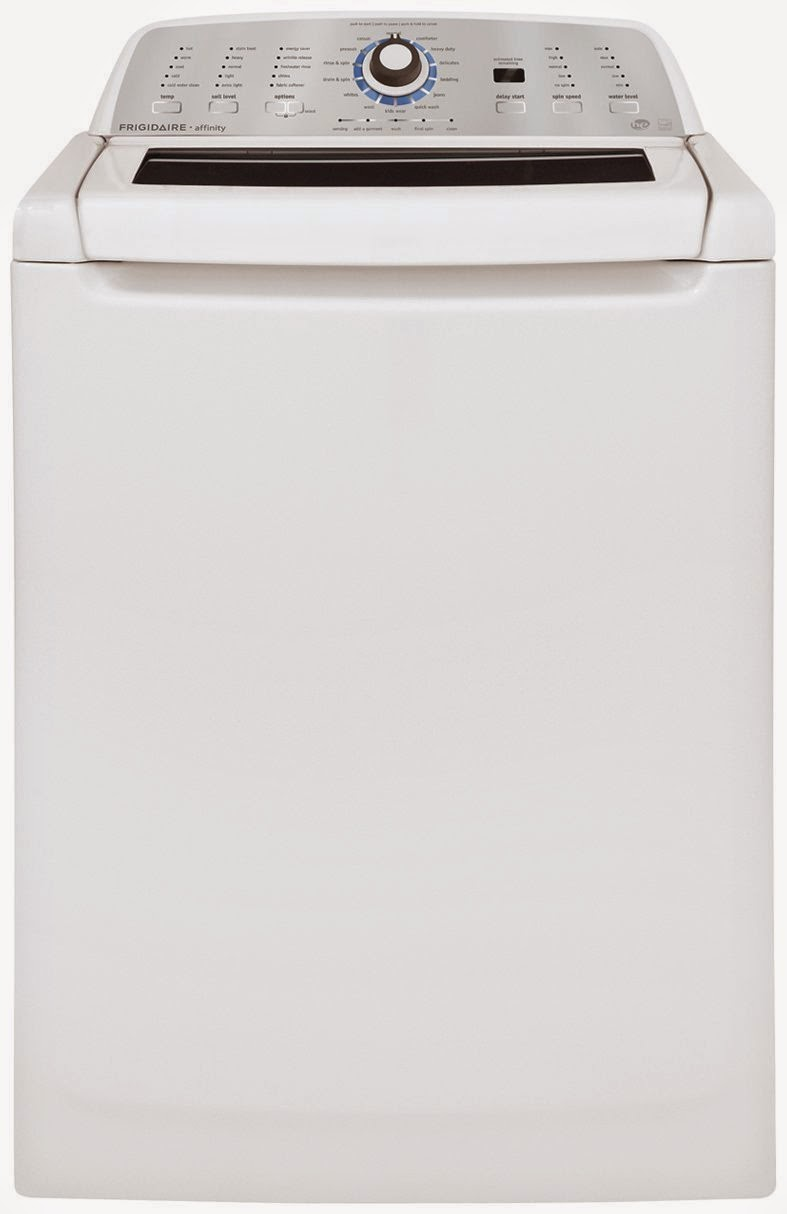 white frigidaire affinity high efficiency top load washers