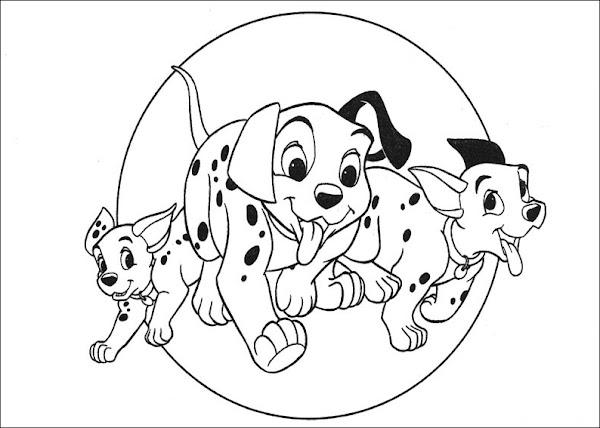 101 Dalmatians Coloring Pages Disney