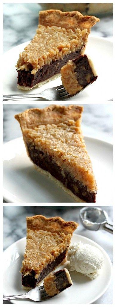 Chocolate Coconut Pecan Pie Foodgazm