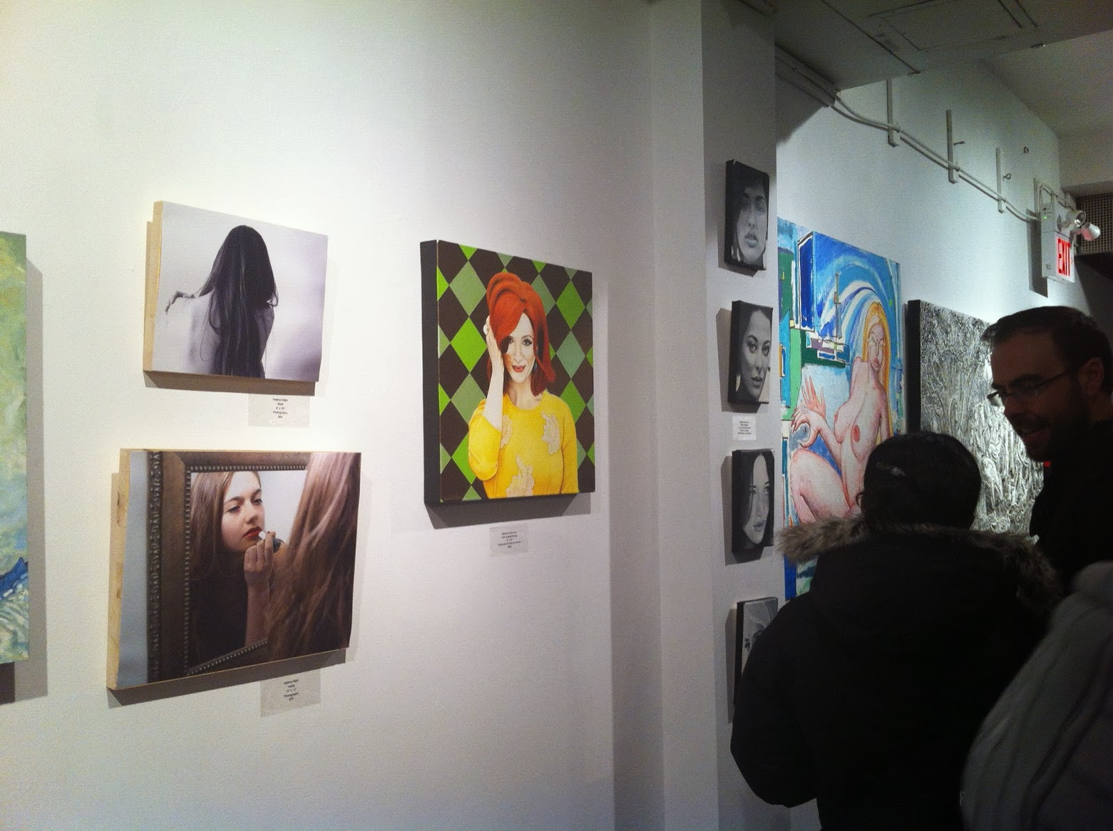 moniker gallery, toronto art show, spitting image, portrait art, portrait artist, malinda prudhomme, toronto artist, michelle moniker, figurative art, art gallery, moniker, malinda prudhomme