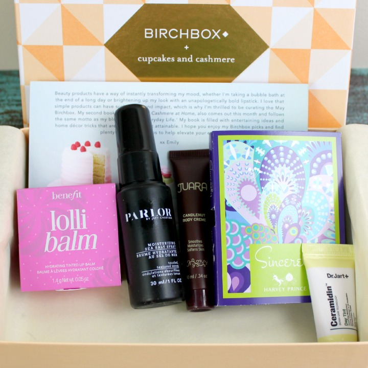 Birchbox May 2015: Cupcakes and Cashmere review unboxing