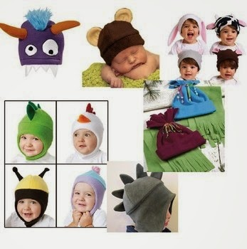 Easy to Sew Free fleece animal hat patterns for baby and children