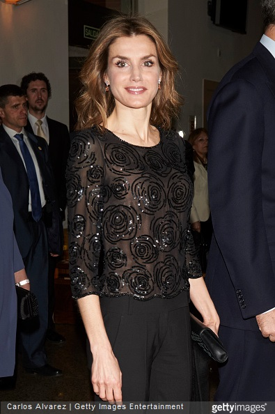 Queen Letizia of Spain attends a Tribute Concert for Terrorism Victims at the National Auditorium