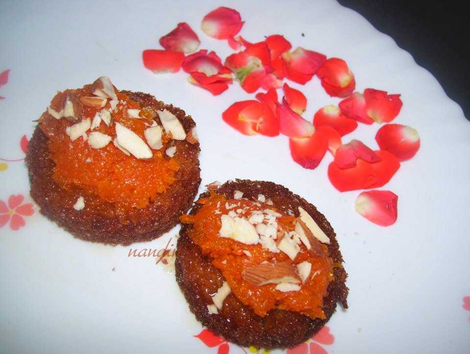 Kinis kitchen shahi tukda canape with gajar ka halva this is a very special sweet celebrated my blog anniversary preparing this sweetgot the recipe from chef ajay chopra food food channel forumfinder Images