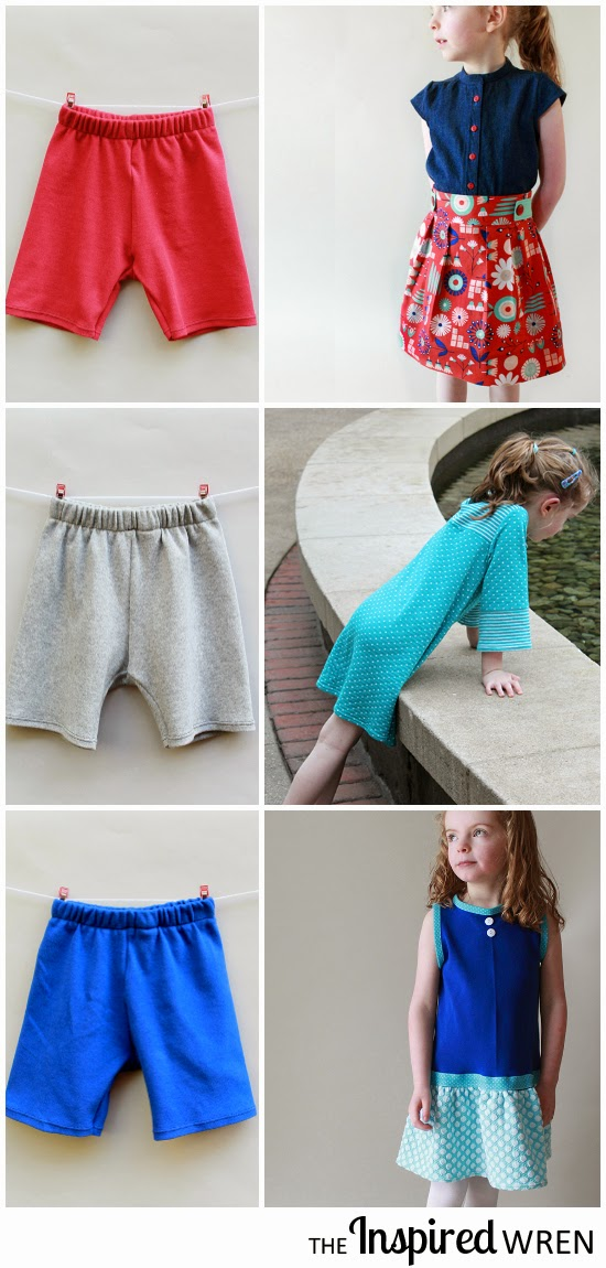 Easy & quick utilitarian sewing: short leggings for modesty under skirts | The Inspired Wren