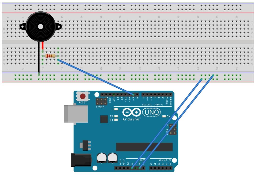 Whitelist arduino piezoelectric buzzer playing