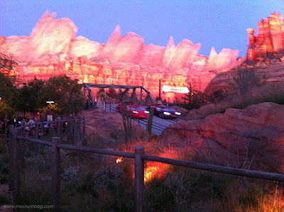 Radiator Springs Racers Evening Lights