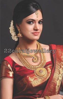 South Indian Bridal Gold Jewelry Jewellery Designs