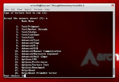 mprime Linux Benchmarking Test