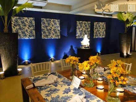 Salão chique para festa de aniversário das bodas de coral