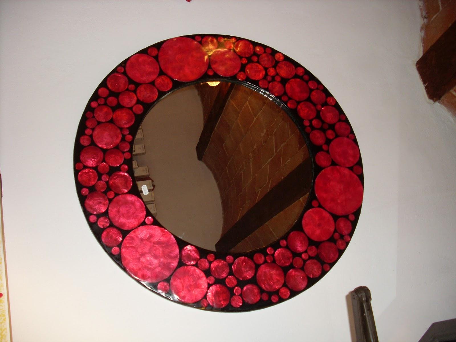 Inusuale oggettistica e arredamento - Specchio cornice nera ...