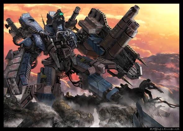 Edwin Ed Basa sekido54 deviantart ilustrações ficção científica soldados futuristas robôs mechas sombrio blade runner