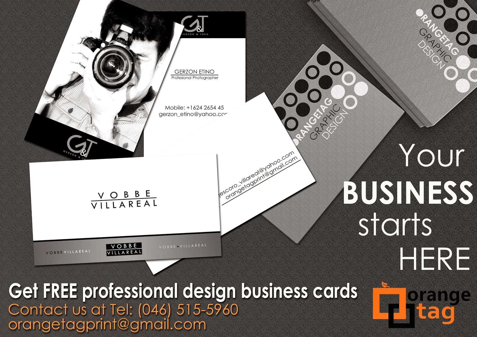 wow your clients with these business card designs free at orange tag print marketing service