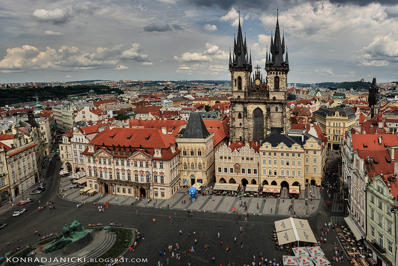 Prague - view from the town hall tower - zabytki