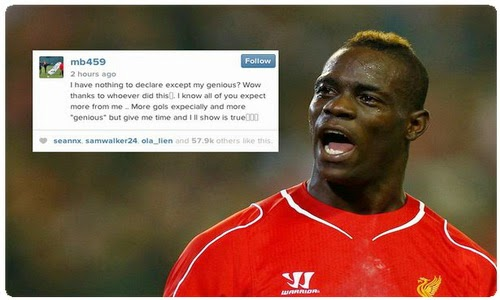 Mario Balotelli: I have nothing to hide, except my genius?