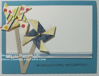 Pinwheel card made with Stampin'UP!'s Pinwheel Die