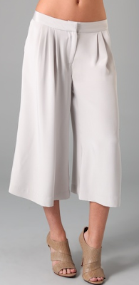 Pale Grey Gaucho Pants