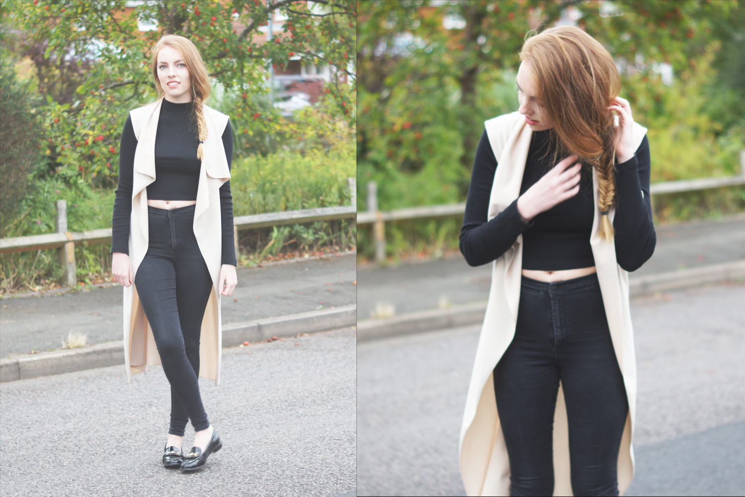joni jeans and high necked cropped jumper