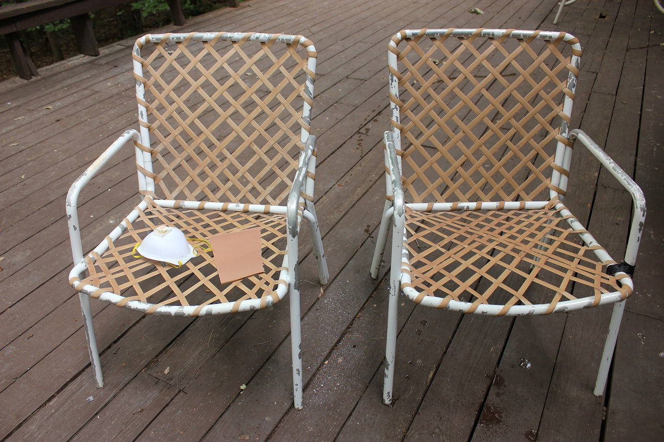 The handcrafted life spray paint patio furniture makeover for Outdoor furniture paint