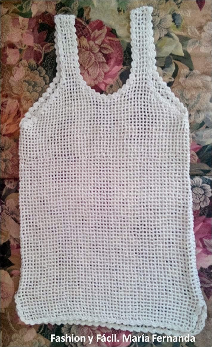 Fashion y Fácil : ¿Cómo tejer una camiseta fácil a ganchillo para ...