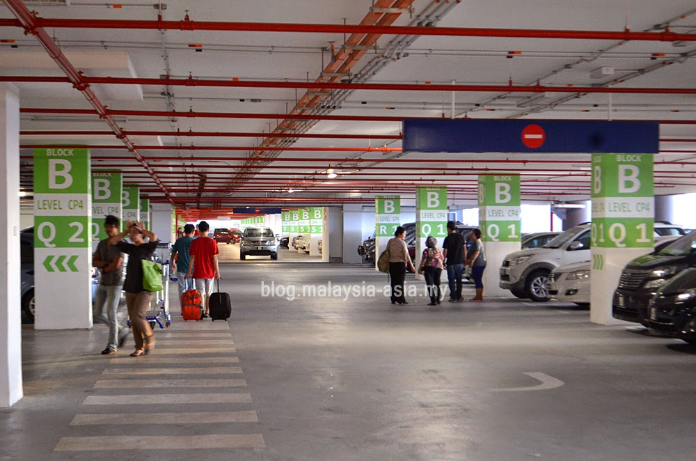 car park at klia2