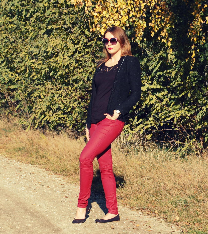 burgundy look