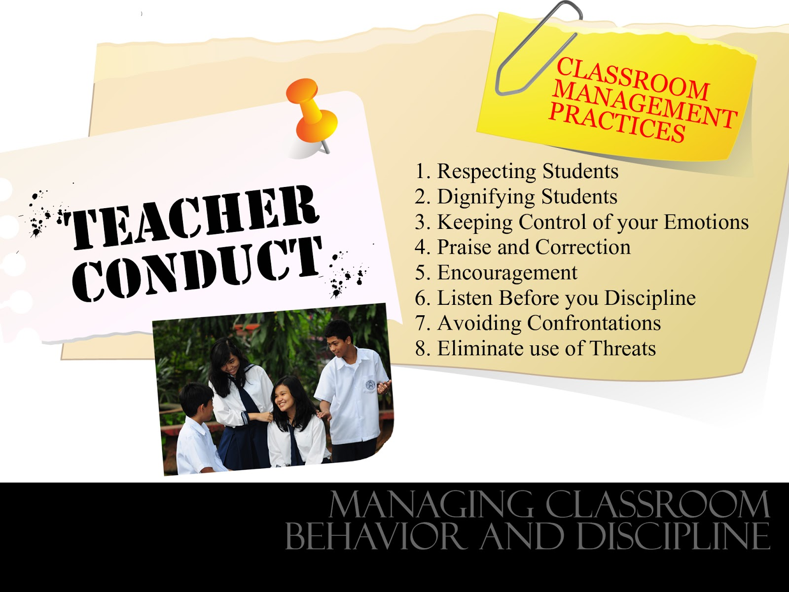the control of a class classroom management and behavior Classroom management tips for new faces is maintaining control of her class when student narration to improve the behavior of the entire class.