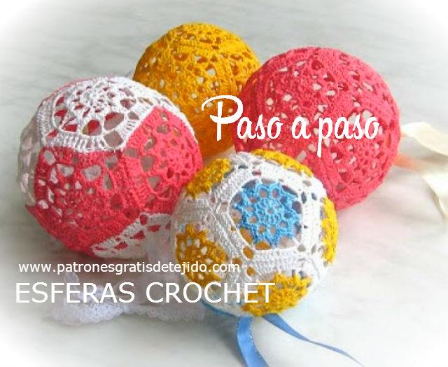 esferas de crochet tejidas paso a paso