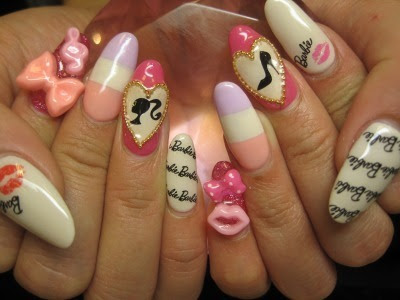 Beautiful nail art barbie doll fashionate trends beautiful nail art barbie doll prinsesfo Images