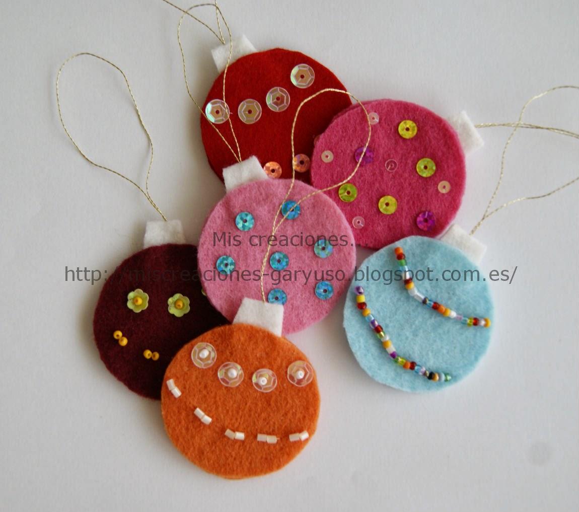Mis creaciones adornos para rbol de navidad en fieltro - Adornos para arbol navidad ...