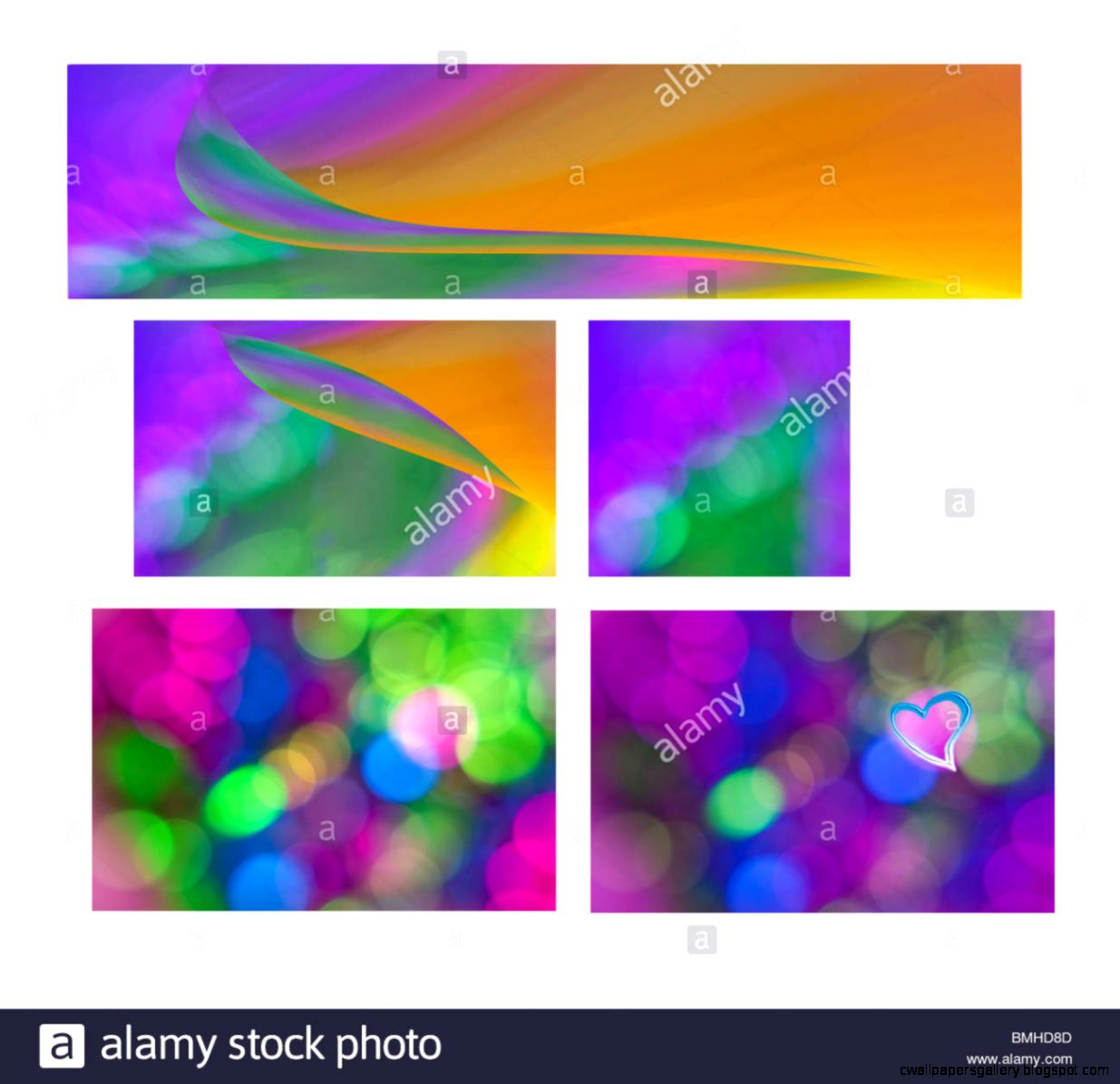 Purple Gold Green Aqua Blue Abstract Background Set Series
