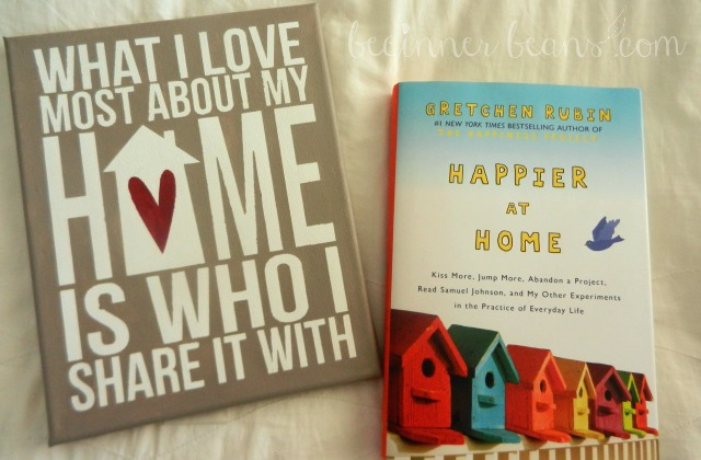what i love most about home painted canvas, happier at home book