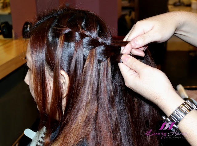 Waterfall Braid Hairstyle By Jass Hair Design For Events - Hairstyle designs simple