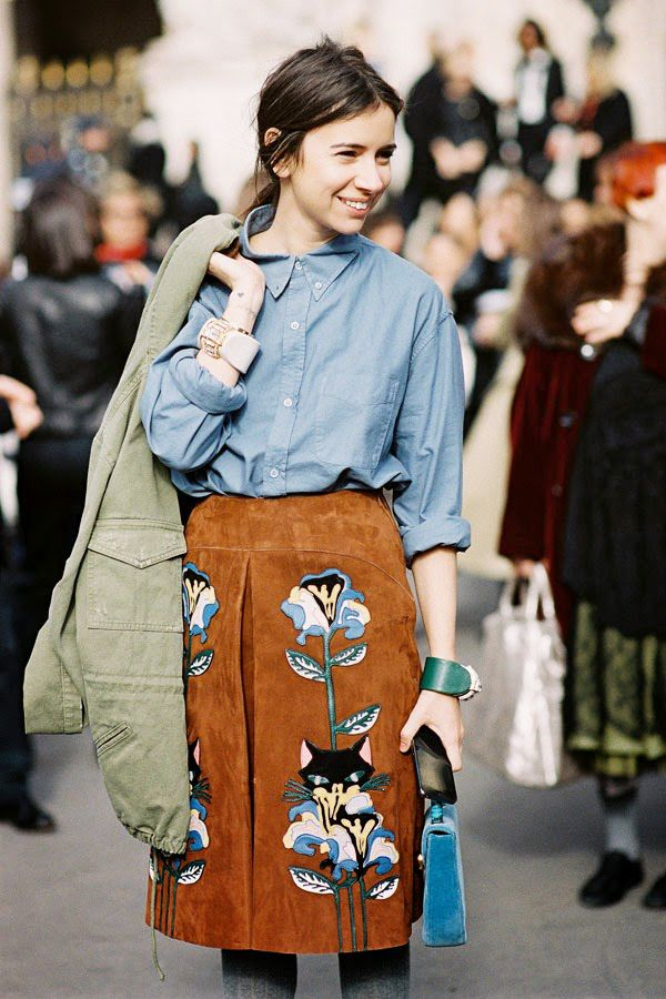 Inspiration Autumm Trends: Suede Skirt