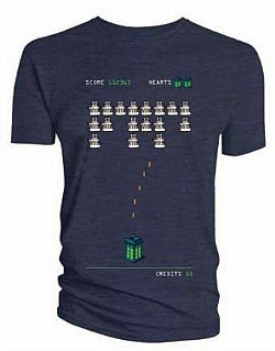 Doctor Who Space Invaders T-shirt