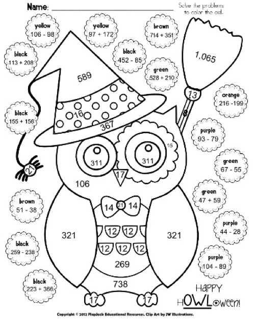 http://www.teacherspayteachers.com/Product/Halloween-Owl-Math-Worksheet-FREE-332777