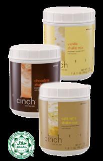 cinch shake mix, ubat kurus,