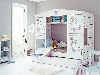 Creatividas e ideas para todo decorar con gris - Camas dobles infantiles para espacios reducidos ...