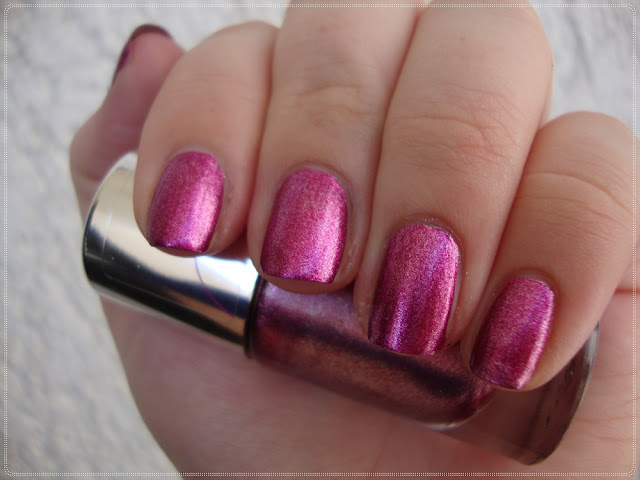 metallic pink nail polish