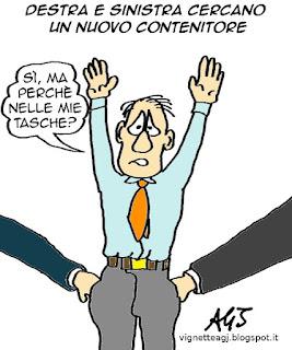 centrodestra, centrosinistra satira vignetta