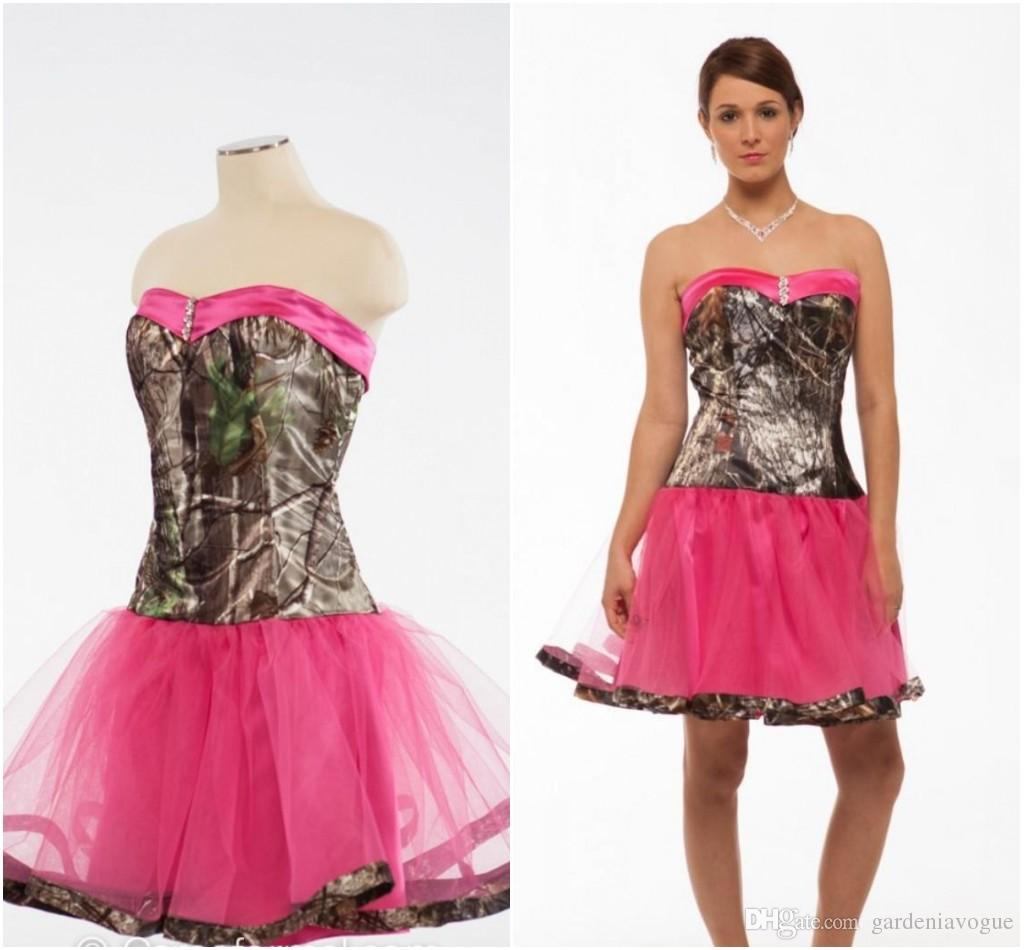 wedding dresses cold climates: Pink Camo Wedding Dresses